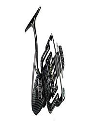 cheap -sensu spinning reel,freshwater spinning fishing reels, light weight ultra smooth aluminum spool graphite frame, 5.5:1 gear ratio, 13+1 ball bearings(5000,black)