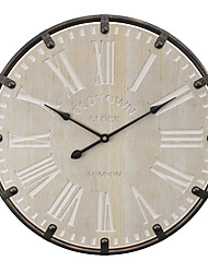 cheap -Modern Contemporary Traditional Wooden Round Classic Theme Holiday Indoor AAA Batteries Powered Decoration Wall Clock Analog Specification No 20'x20'