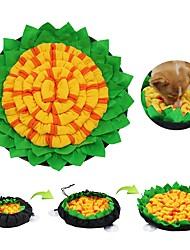 cheap -Dog Food Storage / Dog Feeding Mat / Pet Snuffle Mat Fabric Relieves Stress Washable Training Patchwork Classic Yellow Coffee Bowls & Feeding