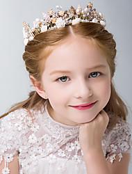 cheap -1pcs Kids / Toddler Girls' Children's Hair Accessories, Hairpins, Girls' Hair Bands, Headbands, Korean Fashion Ceramic Princess Crowns, Little Girls, Shell Accessories, Headband
