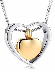 cheap -yinplsmemory cremation ashes jewelry double heart urn necklace for ashes keepsake memorial pendant urn lockets for ashes for loved one(silver and gold)