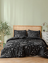 cheap -Duvet cover set with zipper with geometric pattern printed, soft  natural breathable durable King/Queen/Twin size