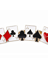 cheap -Women's Men's Brooches Creative Stylish Anime Punk Brooch Jewelry Black / Red For Street Gift Daily Prom Festival