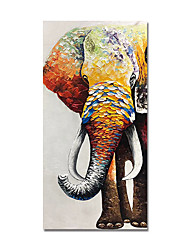 cheap -Oil Painting Hand Painted Abstract Elephant by Knife Canvas Painting Comtemporary Simple Modern Stretched Canvas Ready to Hang