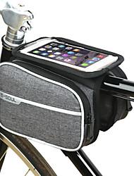 cheap -2 L Bike Frame Bag Top Tube Touch Screen Cycling Multifunctional Bike Bag Terylene Bicycle Bag Cycle Bag Outdoor Exercise