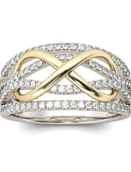 cheap -accessories fashion ladies gold-plated ring color separation wedding ring
