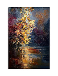 cheap -Oil Painting Hand Painted Abstract Landscape Canvas Painting Comtemporary Simple Modern Stretched Canvas Ready to Hang