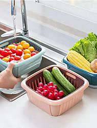 cheap -Kitchen Sink Filter Net Drain Vegetable Fruit Drain Basket Refrigerator Household Kitchen Plastic Washing Vegetable Basin