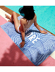 cheap -Summer Beach Towel, Microfiber Quick Drying Light Weight Printed Swimming Yoga Towel -160*80 Blue zebra