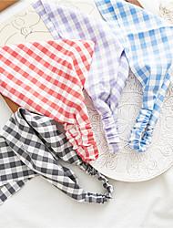 cheap -european and american 2021 new square lattice elastic triangle scarf cross-border women's spring and summer hair bag headscarf three-state headwear