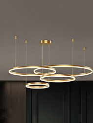 cheap -LED Ceiling Pendant Light Lamp Modern for Dining Room Living Acrylic Circle Ring Chandeliers Dimmable Bedroom Kitchen Interior Lighting