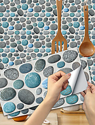 cheap -Imitation Stone Tile Kitchen Bathroom Self-adhesive Paper Waterproof And Oil-proof Cyanine Stone Flake Self-adhesive Decorative Wall Sticker