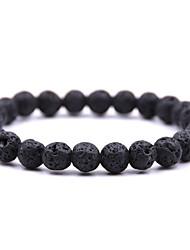cheap -natural stone full bead bracelet volcanic stone turquoise bracelet