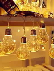 cheap -3.5m String Lights 10 LEDs Solar A55 Bulb Copper Wire Light String Outdoor Waterproof Christmas Wedding Arrangement Bar Garden Decoration LED Lantern