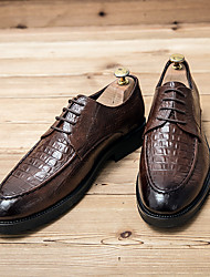 cheap -Men's Oxfords Brogue Leatherette Loafers Bullock Shoes Business Daily Walking Shoes Faux Leather Breathable Non-slipping Wear Proof Black Brown Spring