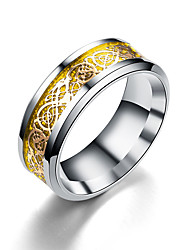 cheap -european and american new gold and silver pieces, dragon pattern, dragon piece ring, cross-border classic explosion, good source, good factory direct sales