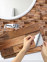 cheap -Imitation Wood Grain Ceramic Tile Kitchen Bathroom Self-adhesive Paper Waterproof And Oil-proof Brown Wood Grain Sheet Self-adhesive Decorative Wall Sticker