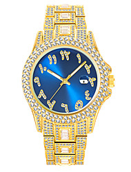 cheap -missfox watch hip hop diamond full diamond business men's waterproof quartz watch