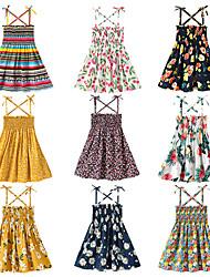 cheap -Kid's Little Girls' Dress Floral Graphic Dresses