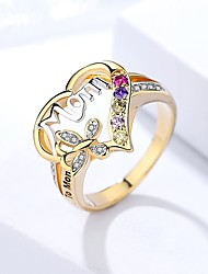 cheap -Band Ring Mixed Color Rainbow Alloy Heart Butterfly Stylish Simple 1pc 6 7 8 9 10 / Women's