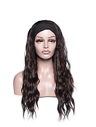 cheap -wig female european and american style chemical fiber long curly hair ice silk hair band turban chemical fiber headgear