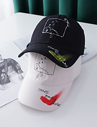 cheap -1pcs Kids / Toddler Unisex Active Birthday / Casual / Daily Wear Cartoon / Letter Stylish Cotton Hats & Caps White / Black / Purple S