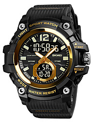 cheap -SKMEI Men's Sport Watch Analog - Digital Digital Sporty Outdoor Calendar / date / day Chronograph Alarm Clock / One Year / Silicone
