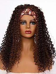 cheap -amazon new hair band wig european and american women's long curly hair simulation hair chemical fiber wig headgear