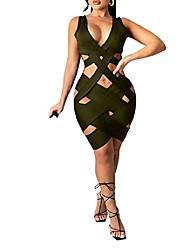 cheap -lucuna clubwear dresses for women sexy deep v backless party dress, spaghetti strap bodycon tank mini dress
