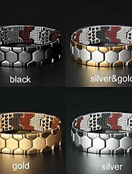 cheap -detachable bracelet hexagonal multi-point magnetic therapy bracelet magnet energy men's bracelet