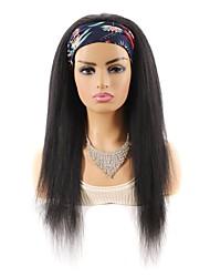 cheap -foreign trade hair band wig headgear mixed real hair wig long hair headgear yaki silk wig headgear