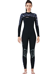 cheap -Dive&Sail Women's Full Wetsuit 3mm SCR Neoprene Diving Suit Thermal Warm Long Sleeve Back Zip - Diving Water Sports Patchwork Autumn / Fall Spring Summer / High Elasticity