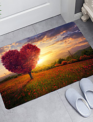 cheap -Huahai Love Tree Digital Printing Floor Mat Modern Bath Mats Nonwoven / Memory Foam Novelty Bathroom