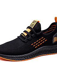 cheap -Men's Trainers Athletic Shoes Athletic Running Shoes Walking Shoes Canvas White Yellow Orange Fall Spring