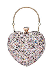 cheap -Women's Bags Top Handle Bag Glitter Shine Party Date Evening Bag Handbags Black Blushing Pink Rainbow