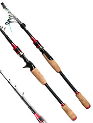 cheap -Fishing Rod Telescopic Rod 198/210/240/270 cm Carbon Fiber Portable Lightweight Sea Fishing Lure Fishing Freshwater and Saltwater