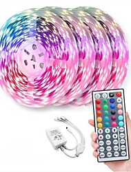cheap -LED Strip Lights Dimmable 20m Light Sets RGB Tiktok Lights 600 LEDs 5050 SMD 10mm Remote Control RC Cuttable Linkable Suitable for Vehicles Self-adhesive Color-Changing IP44