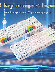 cheap -fast delivery k870t 87 keys rgb wirele sbluetooth dual mode gaming mechanical keyboard for pc teclado mecánico retroiluminado