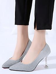cheap -Women's Wedding Shoes Stiletto Heel Synthetics Purple Pink Gray