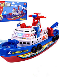 cheap -High Speed Music LED Light Fire BoatToy Electric Marine Rescue Fire Fighting Boat Toys for Kids,Battery Operated(3AA Battery not Included)