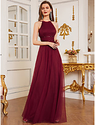 cheap -A-Line Straps Floor Length Chiffon Bridesmaid Dress with Ruching