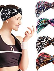 cheap -bohemian style new elastic sports hairband wide-brimmed face wash