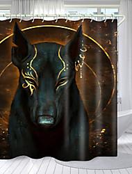 cheap -Little Black Dog Digital Printing Shower Curtain Shower Curtains  Hooks Modern Polyester New Design 72 Inch