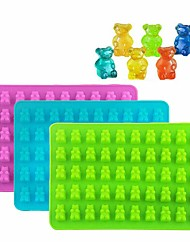 cheap -50 Gummy Bears Silicone Mould Chocolate Fondant Jelly Ice Cube Mold for DIY Handicraft Baking Accessories