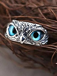 cheap -Ring Silver Alloy Owl Vintage 1pc Adjustable / Women's