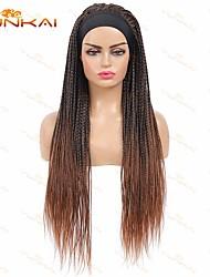 cheap -yunkai three-strand braided wig headband wig ice silk headband african dirty braid head cover chemical fiber wig wholesale
