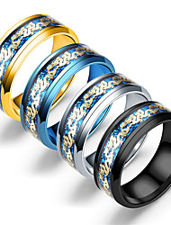 cheap -four-color double dragon gold piece gold dragon piece ring fashion jewelry