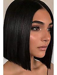 preiswerte -Aisi Beauty Bob Perücken schwarze gerade Perücke für Frauen mit Mittelteil Haaransatz Perücke schulterlange Perücke Kunstfaser Haar Perücke schwarze Bob gerade Haar Perücke für Frauen täglichen