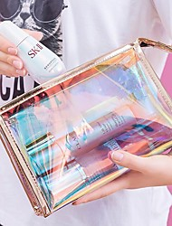 cheap -Laser Transparent TPU Cosmetic Bag Female Storage Bag Waterproof Toiletry Bag Make Up Bag