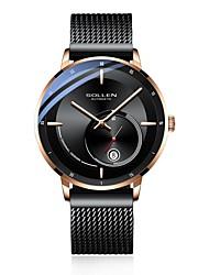 cheap -DOM Men's Mechanical Watch Analog Automatic self-winding Stylish Calendar / date / day Noctilucent / Titanium Alloy